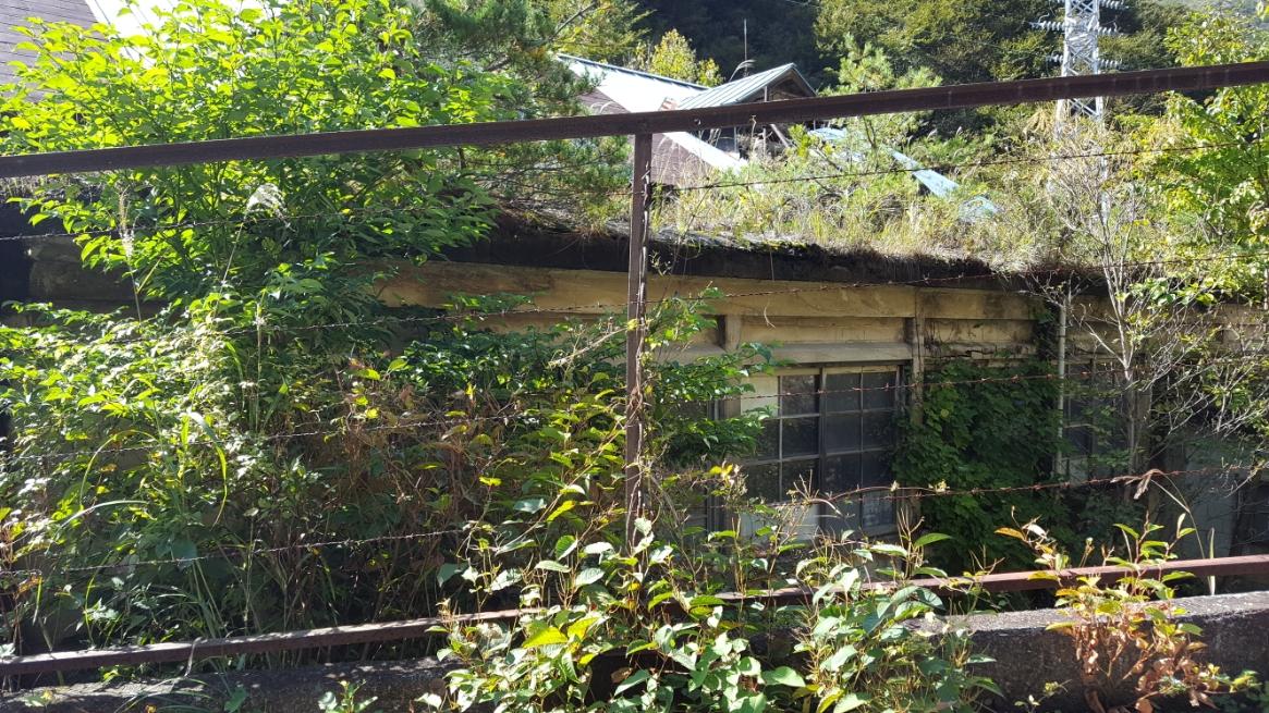 鉱山に関する廃墟と思われますが、どこもしっかりと戸が閉じられ中を観ることはできません。