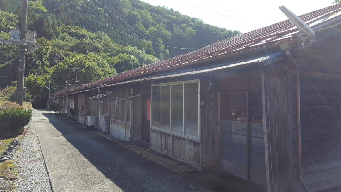 当時、このエリアには1万余人の人々が住んでいた為、社宅群の廃墟があちらこちらにあります。