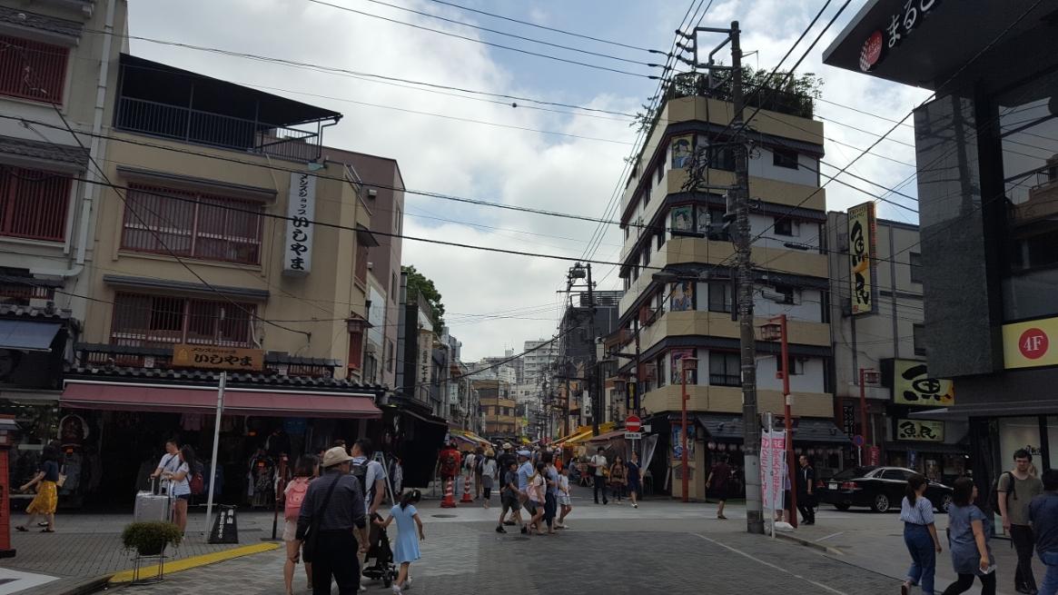 「西参道」通りから一旦浅草寺方面に戻り、「ホッピー通り」を歩きます。