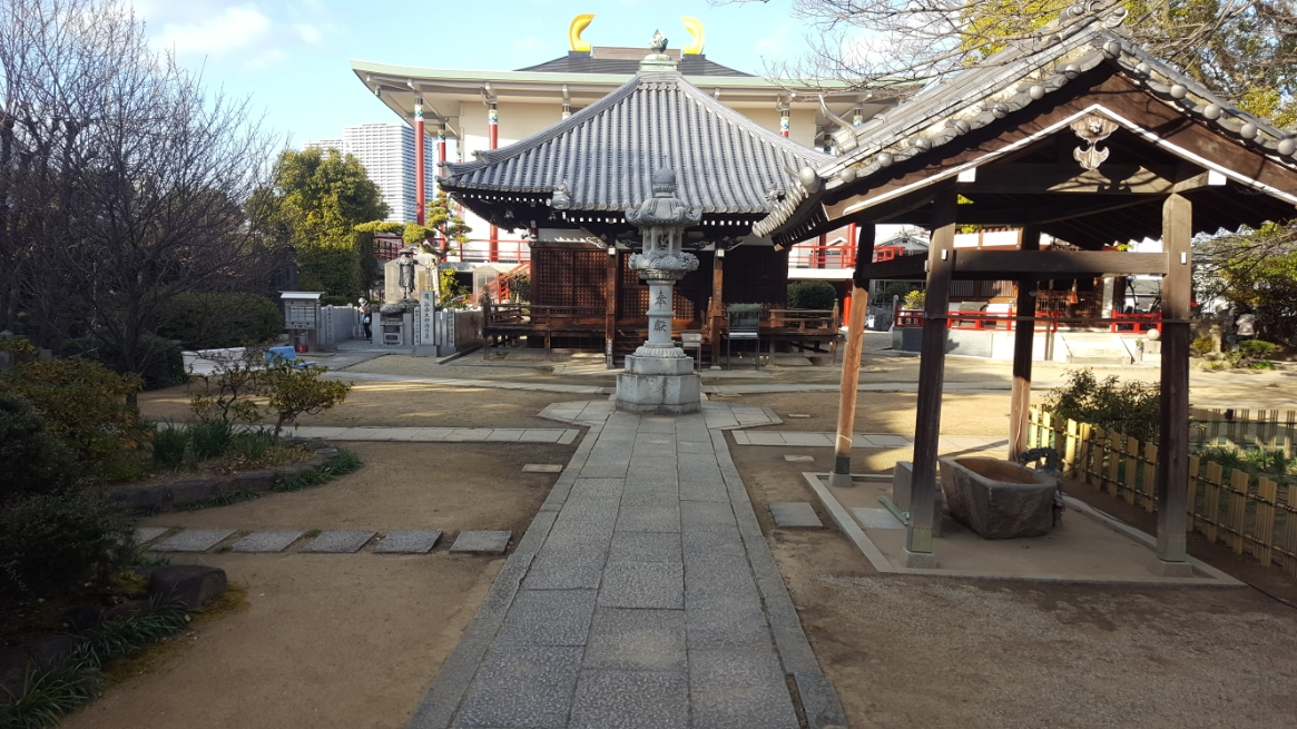 境内は広く、正面に本堂、右手に御手水舎があります! 日本が誇る聖域で在る為しっかりとお清めをして散策を開始します!