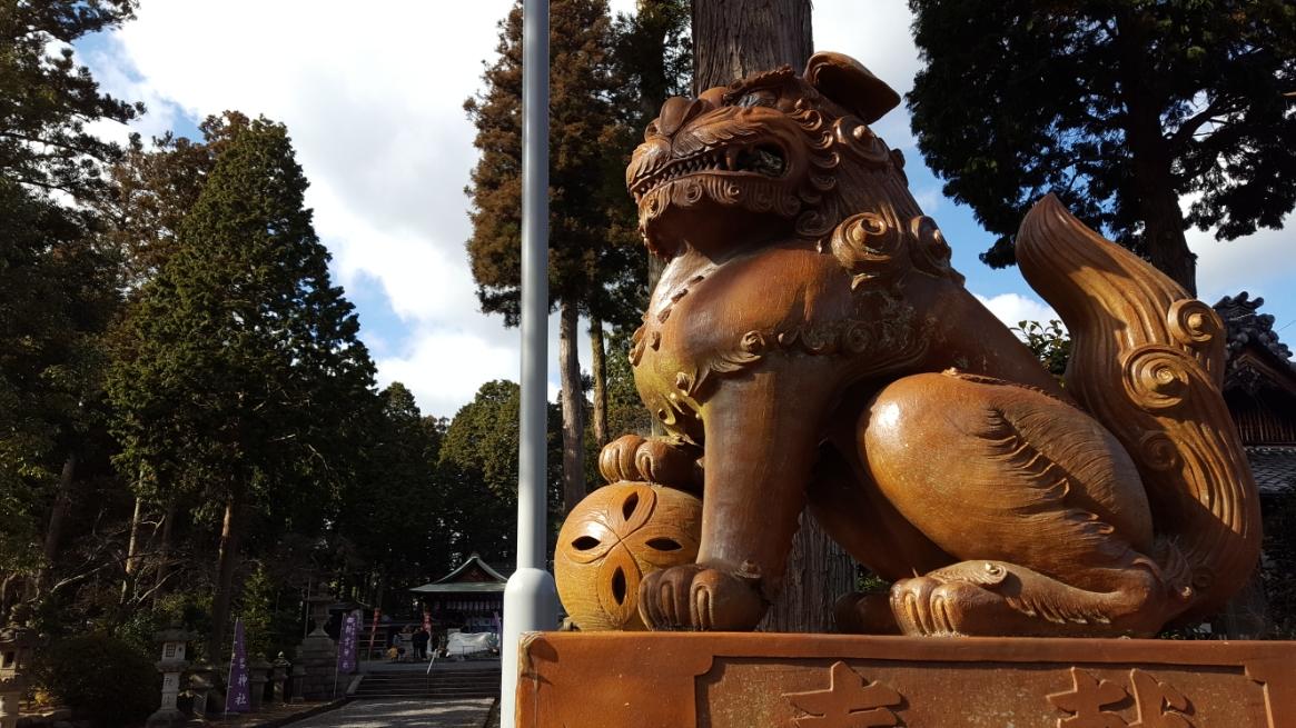 鳥居側に居る狛犬が珍しい陶器製である所に、ココが日本六古窯のひとつ「信楽町」を鎮守してきたという関わりが分かりますね!!