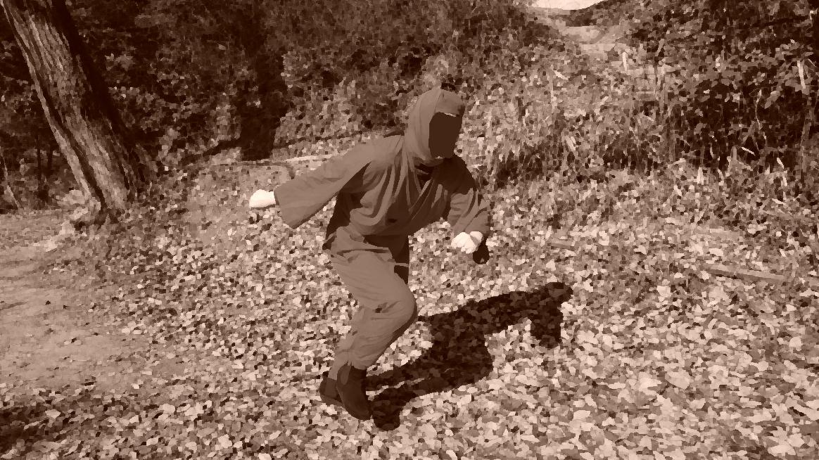 他にも人の目さえ気にならなければ、気にさえならなければ、山中で忍者に成りきり撮影を楽しむことが出来ます!