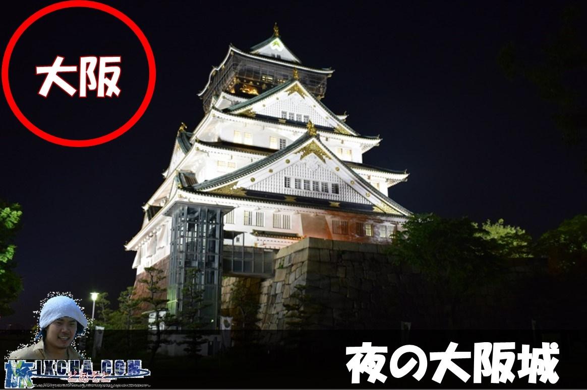 夜の大阪城