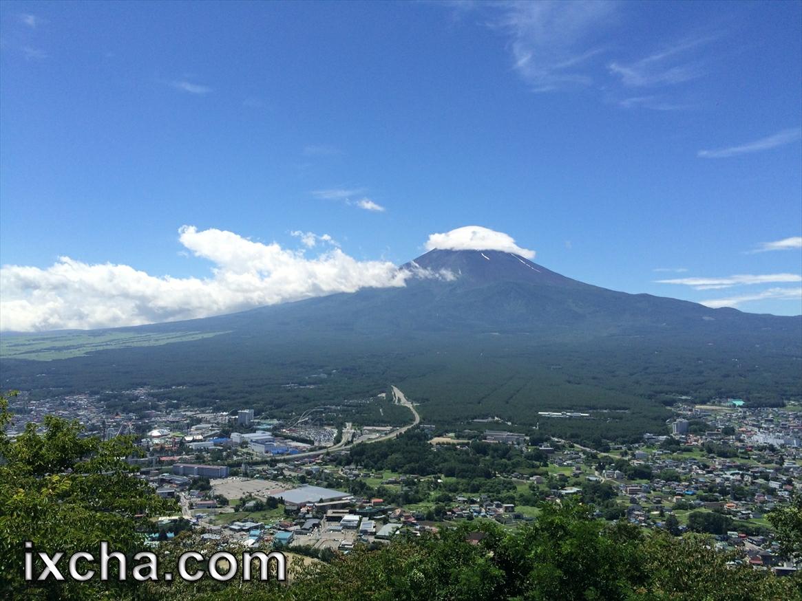 富士山をみながら
