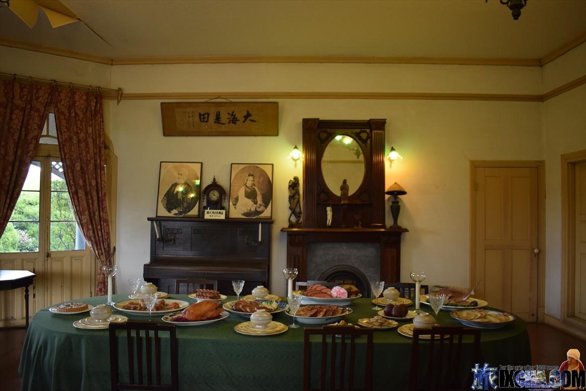 グラバー邸豪華な食事