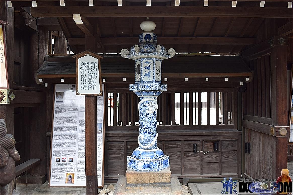 伊万里焼の灯篭