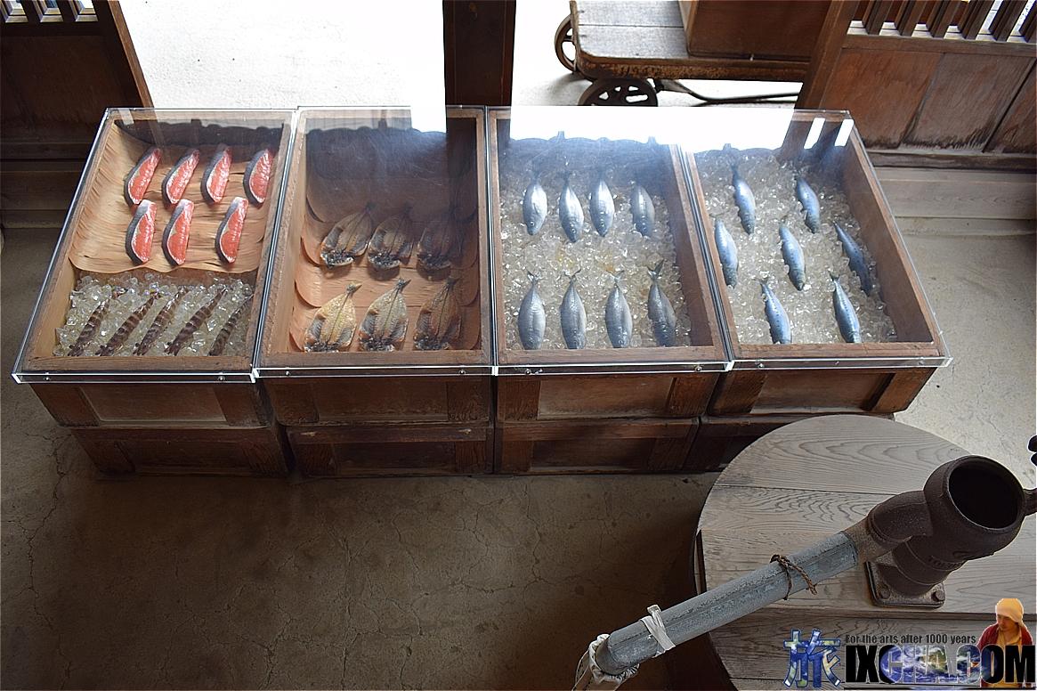 魚切り売り